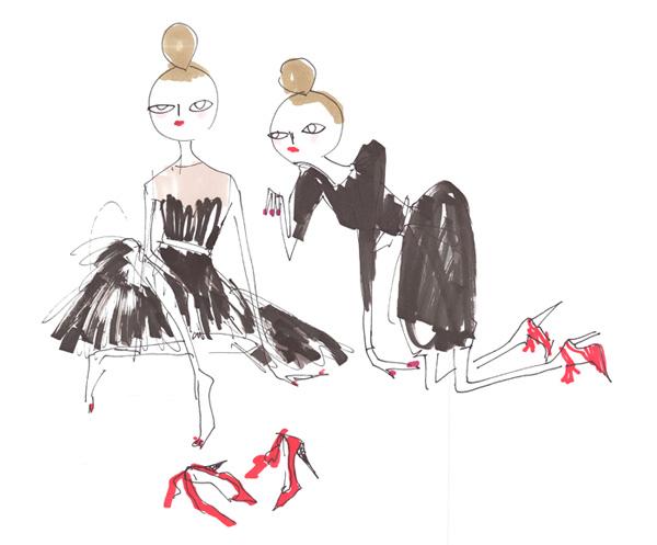 lanvin black dress H&M