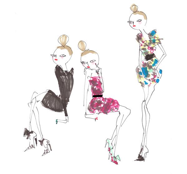 lanvin H&M shoes rose