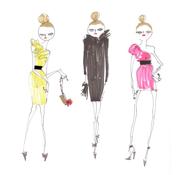lanvin H&M ruffle dress