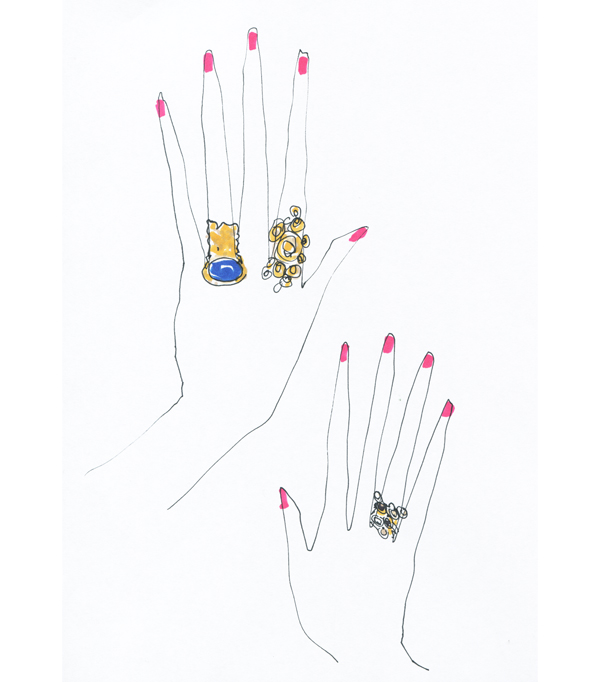 ysl gold cocktail ring