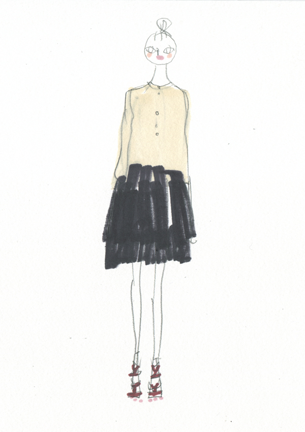 black and white spring coat 2012 dries
